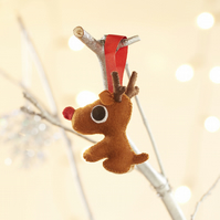 Rudolph red nosed Reindeer hanging tree ornament