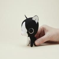 Black and white tuxedo cat ornament - cat lover gift