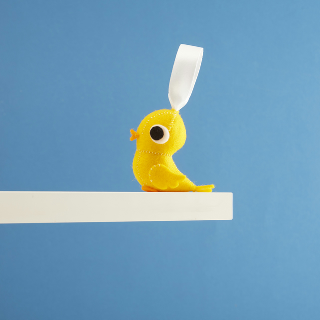 Cute Canary bird hanging decoration
