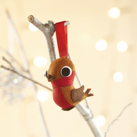 Christmas Robin tree ornament, small Christmas gift