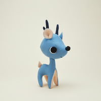 Blue Deer ornament - woodland animal gift