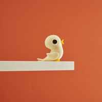 Baby chick - felt  bird ornament