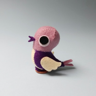 Purple perching bird ornament