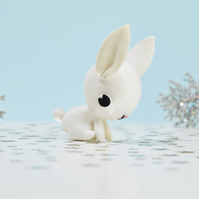 White Rabbit ornament - woodland animal gift