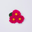bright pink primrose flower brooch
