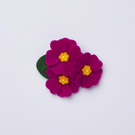 purple primrose brooch pin