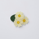 yellow primrose flower brooch - floral brooch pin