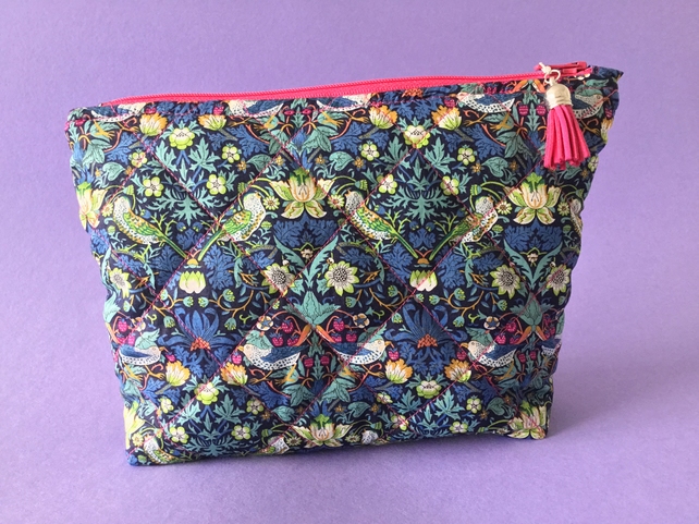 SALE  Liberty's Strawberry Thief Make Up Bag