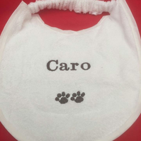 Personalised Large dog dribble bib, new foundland, St bernard