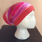 Pink and Red Striped Beanie Hat