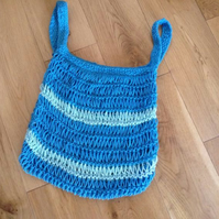 Hand knit 100% Cotton Market Shopping Bag