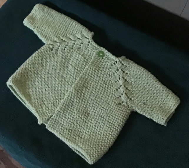 Pale Green Baby Cardigan 3-6 months