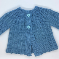 Ribbed Pattern Baby Cardigan 0-3 months