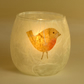 Robin Candle Holder - Strawsilk Glass