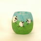 Happy sheep candle holder