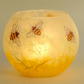 Bee medium candle holder - strawsilk bubble ball