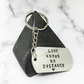 Personalised Hand stamped Keyring, Perfect gift for a housewarming