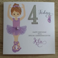 Personalised Ballerina Birthday Card - Any Age - Granddaughter, Daughter etc