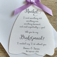 Will You Be My Bridesmaid? A6 Card (new style)