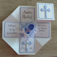 Will You Be My Godmother-Father-Parent? Cross Exploding Box Card