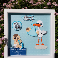Baby Boy arrival - gift frame