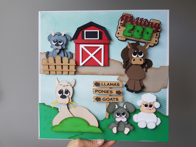 Petting Zoo - wall art frame