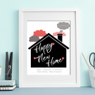 Happy New Home framed print - personalised gift