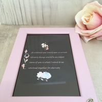 LOVE Handmade Original Words and Design Print in frame