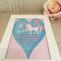 I've found a Unicorn Handmade Original Words and Design Print in frame