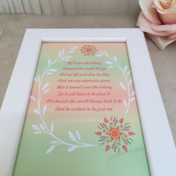 Plan 'b' Handmade Original Words and Design Print in frame