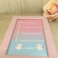 Wife Handmade Original Words and Design Print in frame