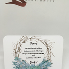 Sorry wreath keepsake card with stand