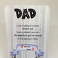 Dad keepsake card with stand