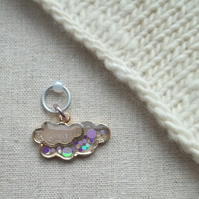 Cloud stitch marker for knitting