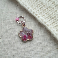 Flower Blossom stitch marker for knitting