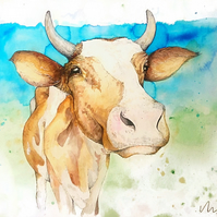 Friendly Cow - Print