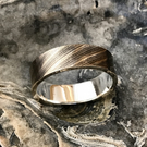Cymbal Bronze with Silver or Gold Liner Wedding, Engagement, Anniversary Ring.