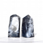 Black and White Marble Crystal Point Wand Glycerine Gem Soap