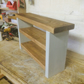 Rustic Handmade Double Shoe Bench Annie Paris Grey