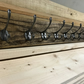 Wooden Coat Rack Reclaimed Pine Handmade Victorian Cast Iron Coat Hooks