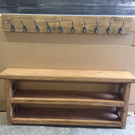 3 Tier Shoe Bench with Matching Coat Hook