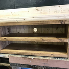 Hand Made Solid Wood Rustic Straight Tv Stand - solid wood