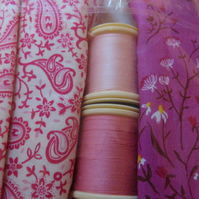 Fabric Fat quarter cotton 2 and 2 threads Ref FY411