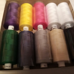 Moon Sewing Thread x 10  Cops 1,000 metres each BOX A