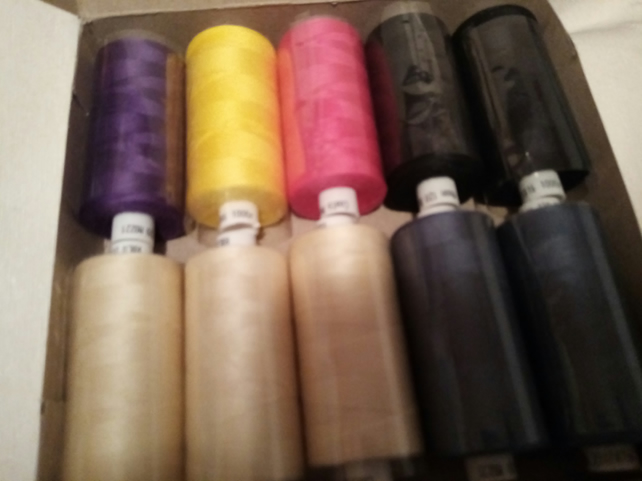Moon Sewing Thread x 10  Cops 1,000 metres each  BOX C