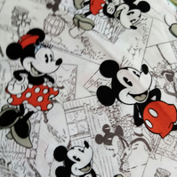 Fabric Mickey and Minnie Walt Disney Springs Creative 100% cotton   Ref FY482