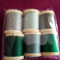 Thread Fabrique en France 100% Cotton 100mts 6 Colours  Ref FY488
