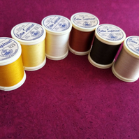 Thread Fabrique en France 100% Cotton 100mts 6 Colours  Ref FY489