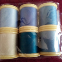 Thread Fabrique en France 100% Cotton 100mts 6 Colours  Ref FY491