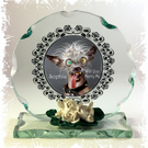 World's Ugly Dog, Marry Me, Cut Glass Round Plaque, Christmas Limited Edition